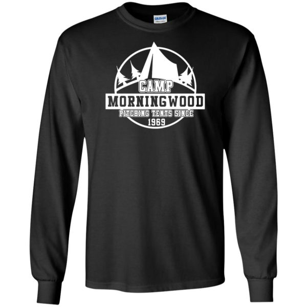 morning wood long sleeve - black