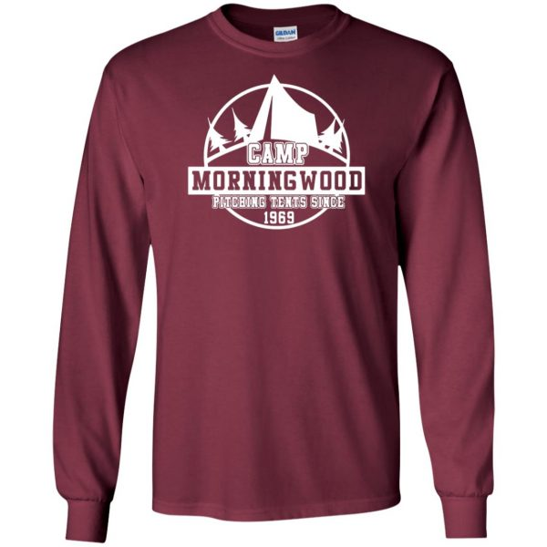 morning wood long sleeve - maroon