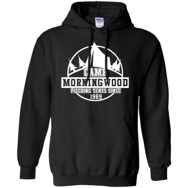 morning wood hoodie - black