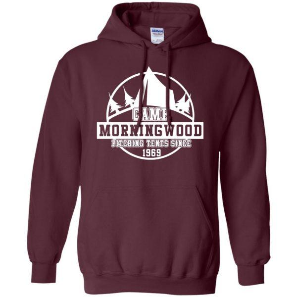 morning wood hoodie - maroon