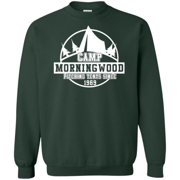 morning wood sweatshirt - forest green