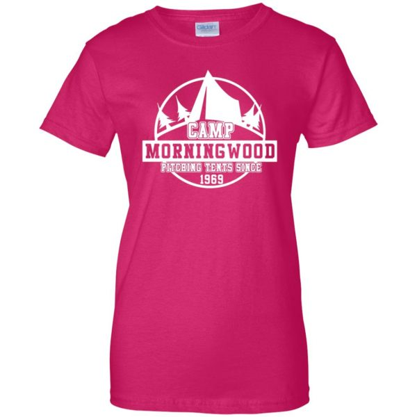 morning wood womens t shirt - lady t shirt - pink heliconia