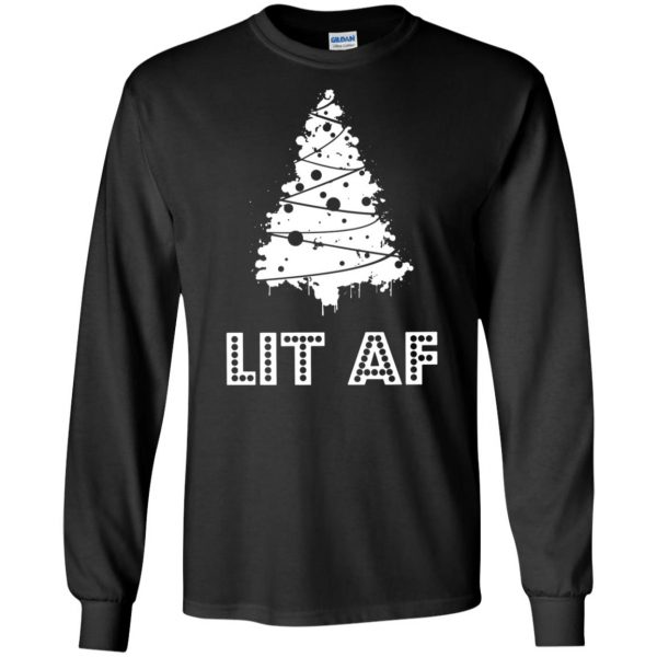 lit af long sleeve - black