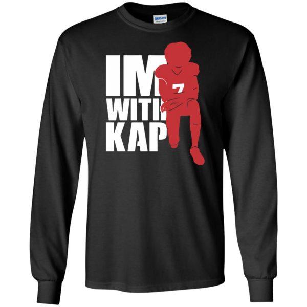 i'm with kap long sleeve - black
