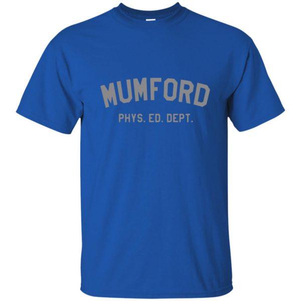 mumford phys ed t shirt - royal blue