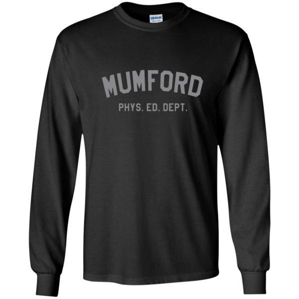 mumford phys ed long sleeve - black