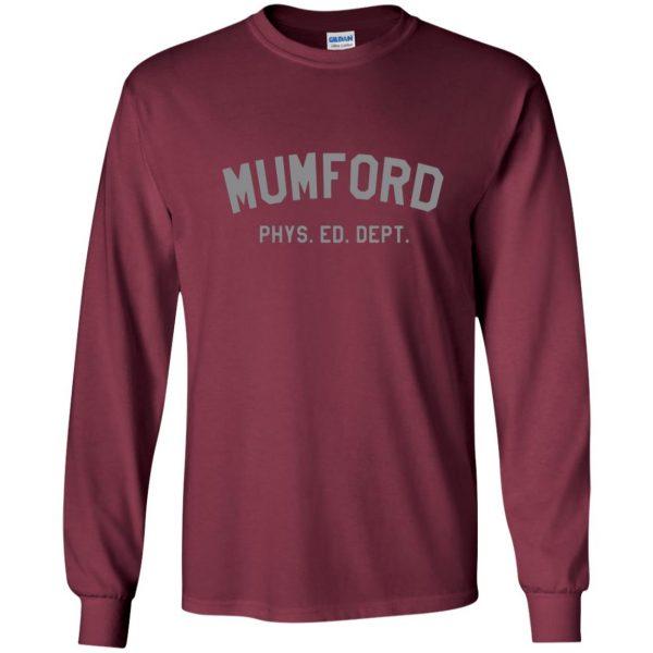 mumford phys ed long sleeve - maroon