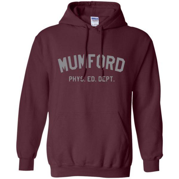 mumford phys ed hoodie - maroon