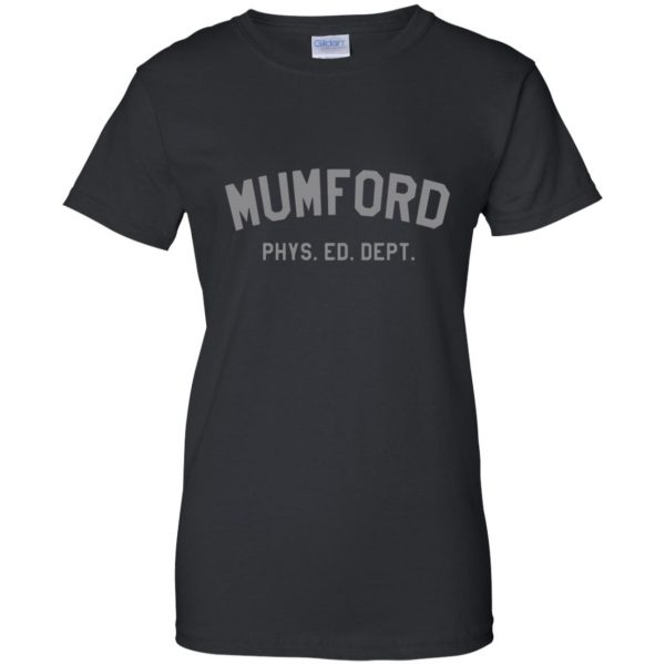 mumford phys ed womens t shirt - lady t shirt - black
