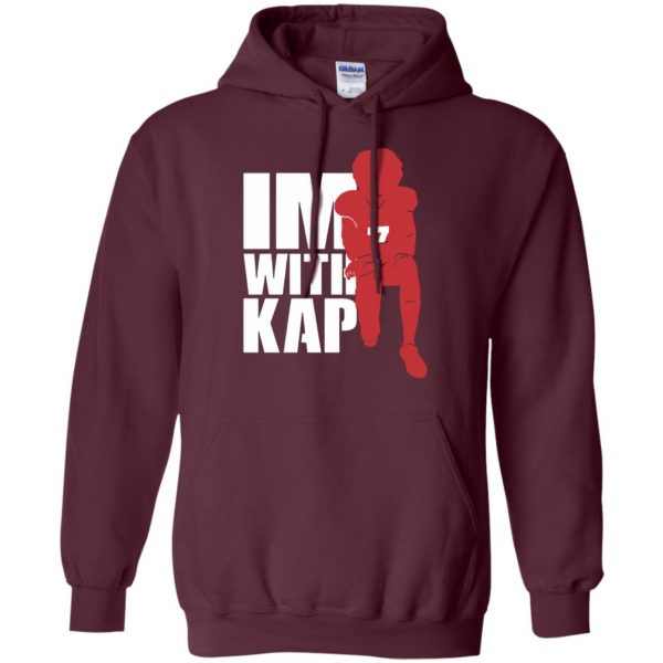 i'm with kap t shirt hoodie - maroon