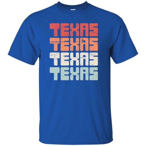 vintage texas t shirt - royal blue