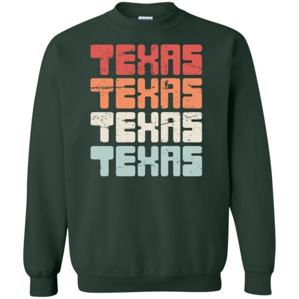 vintage texas sweatshirt - forest green