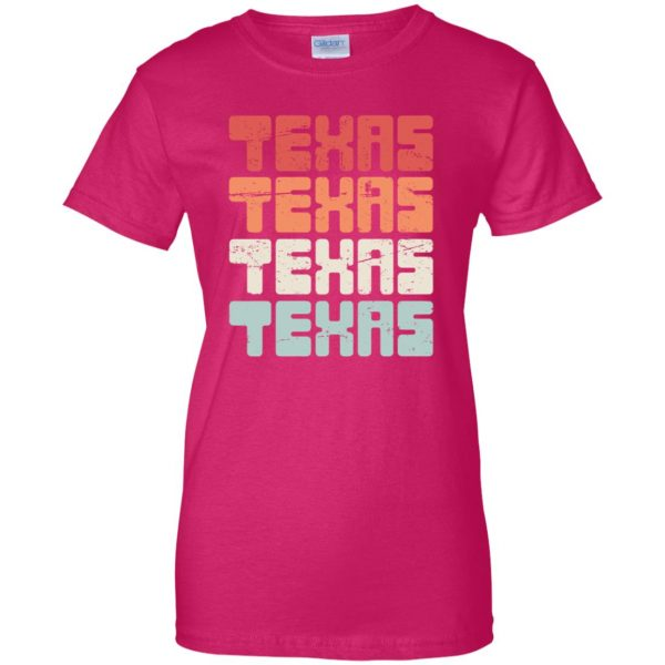 vintage texas womens t shirt - lady t shirt - pink heliconia