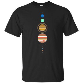 solar system shirt - black