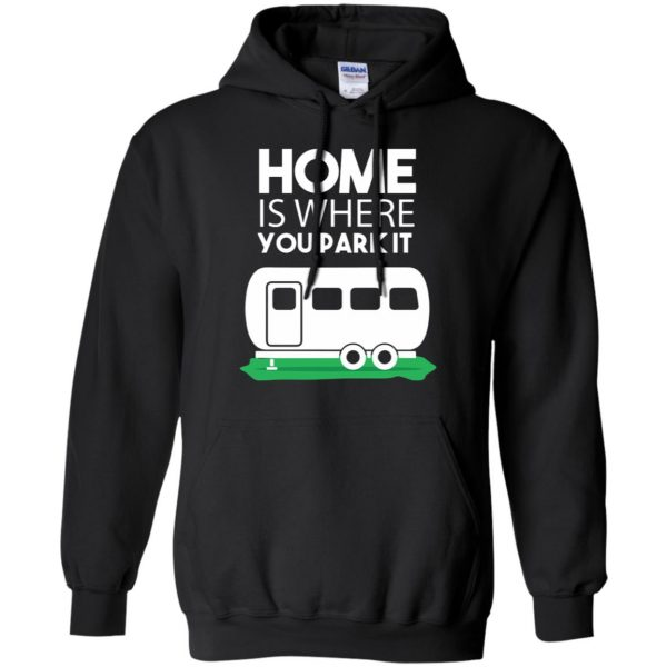 rv tshirt hoodie - black