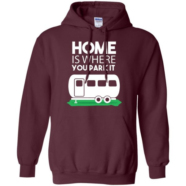 rv tshirt hoodie - maroon