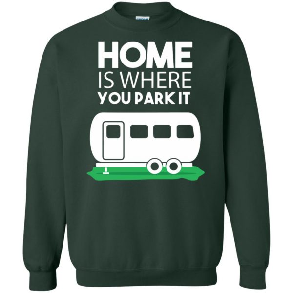 rv sweatshirt - forest green