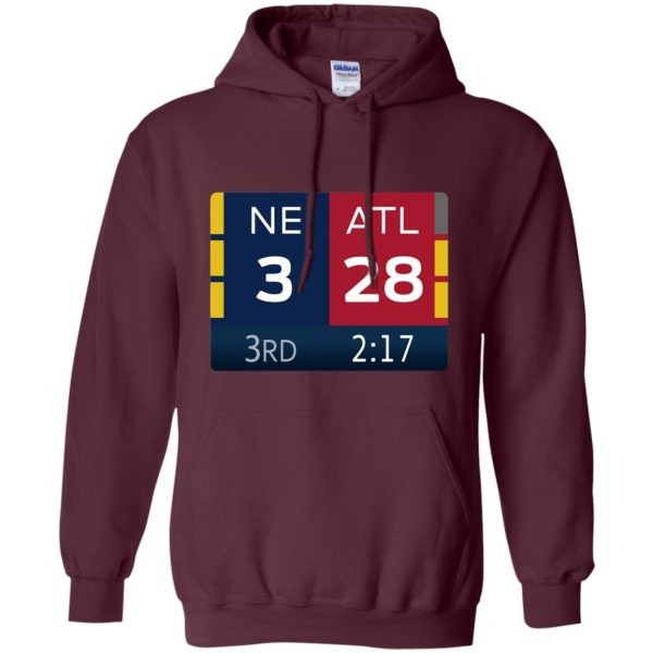 ne 3 atlanta 28 hoodie - maroon