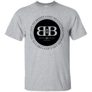 broke phi broke shirt - sport grey