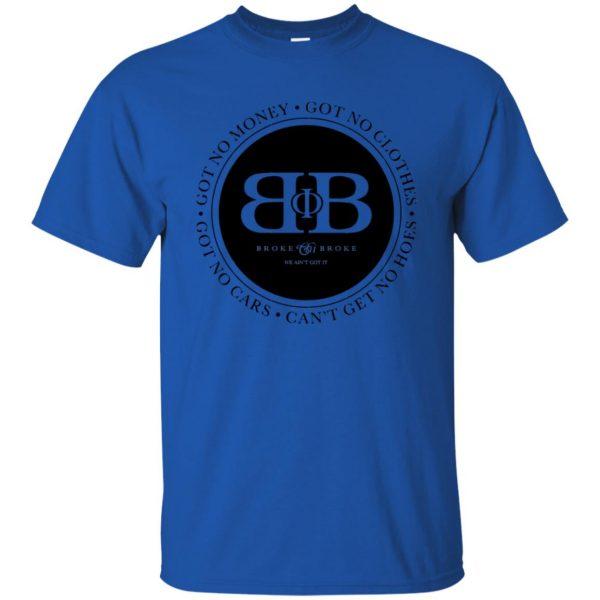 broke phi broke t shirt - royal blue