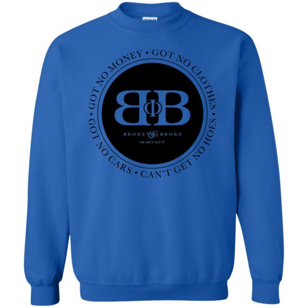 broke phi broke sweatshirt - royal blue