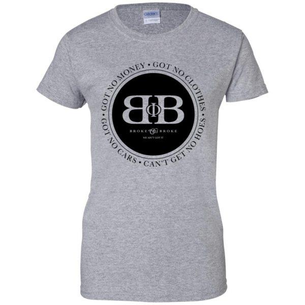 broke phi broke womens t shirt - lady t shirt - sport grey
