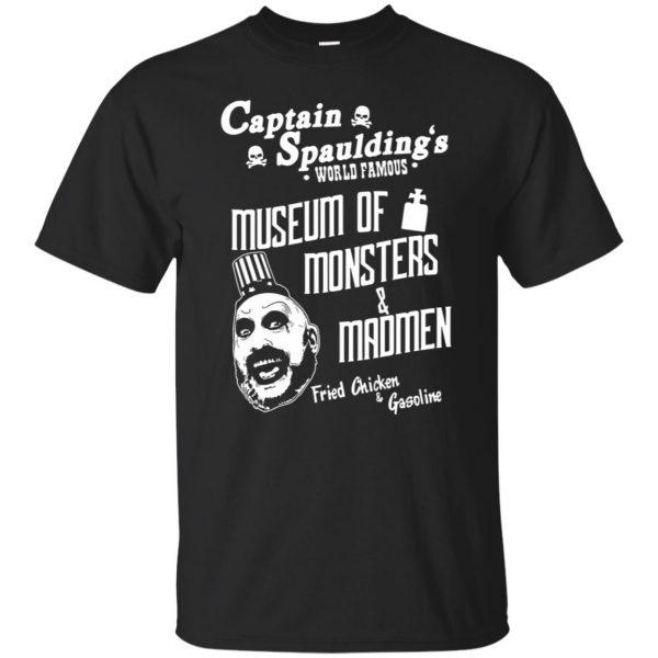 captain spaulding shirts - black