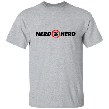 nerd herd shirt - sport grey