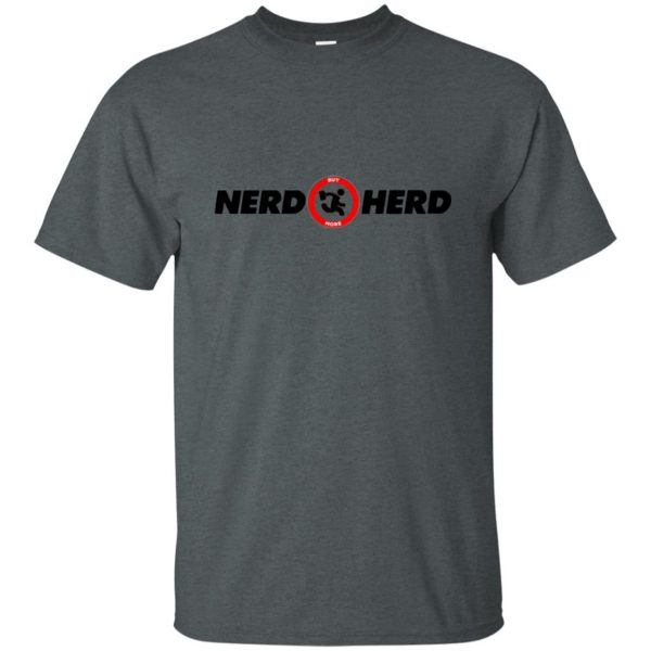 nerd herd t shirt - dark heather