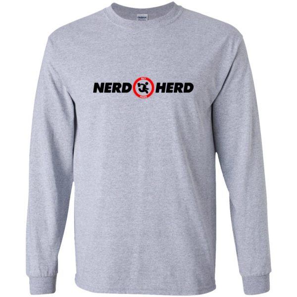 nerd herd long sleeve - sport grey