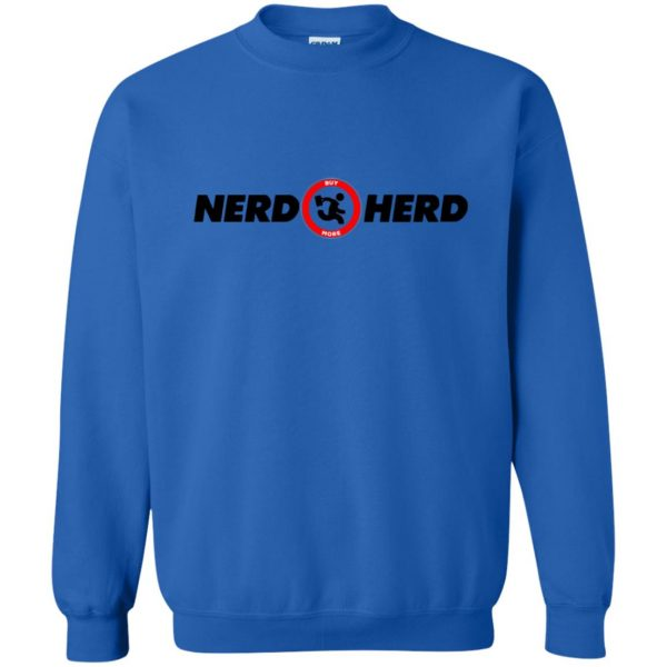 nerd herd sweatshirt - royal blue