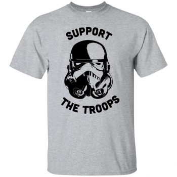 support the troops shirt - sport grey