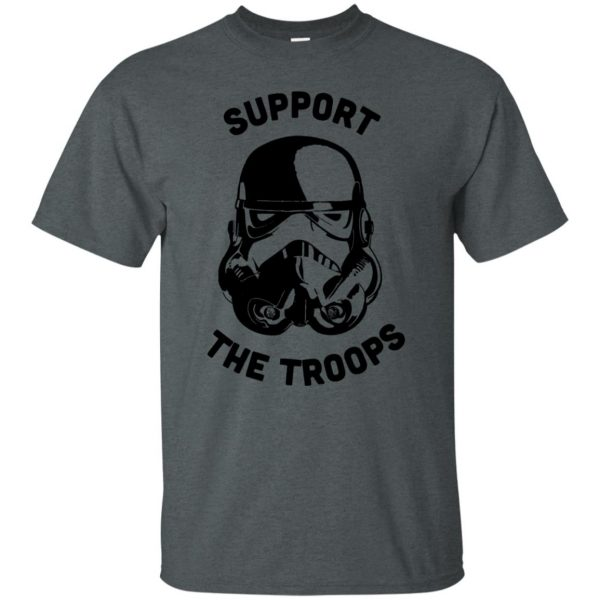 support the troops t shirt - dark heather