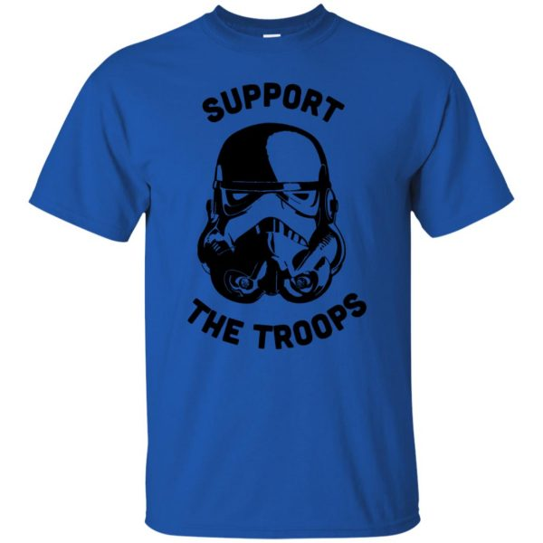 support the troops t shirt - royal blue