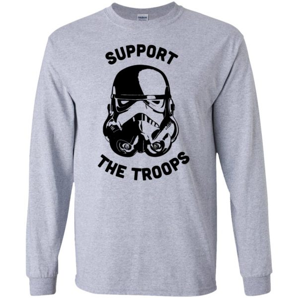 support the troops long sleeve - sport grey