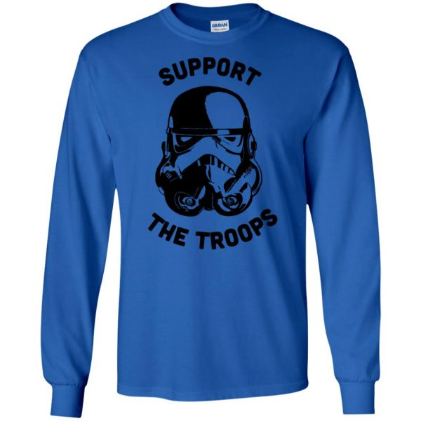 support the troops long sleeve - royal blue