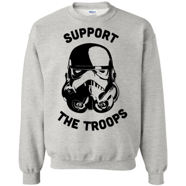 support the troops sweatshirt - ash
