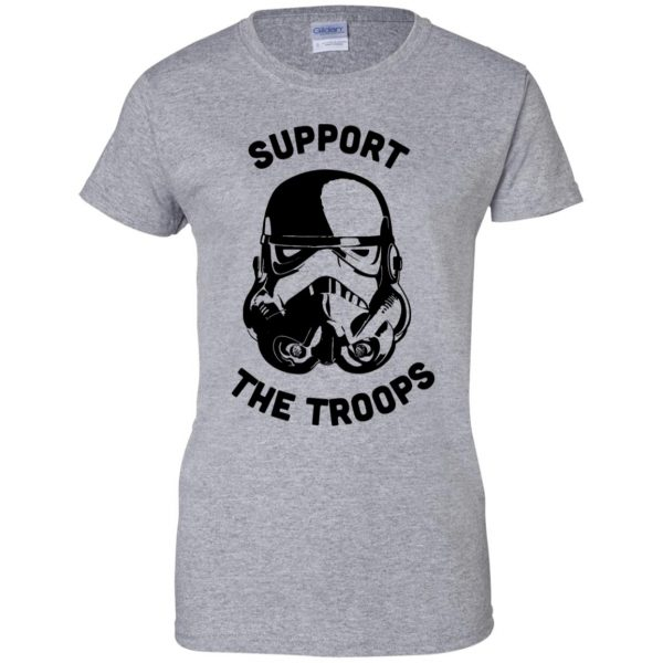 support the troops womens t shirt - lady t shirt - sport grey