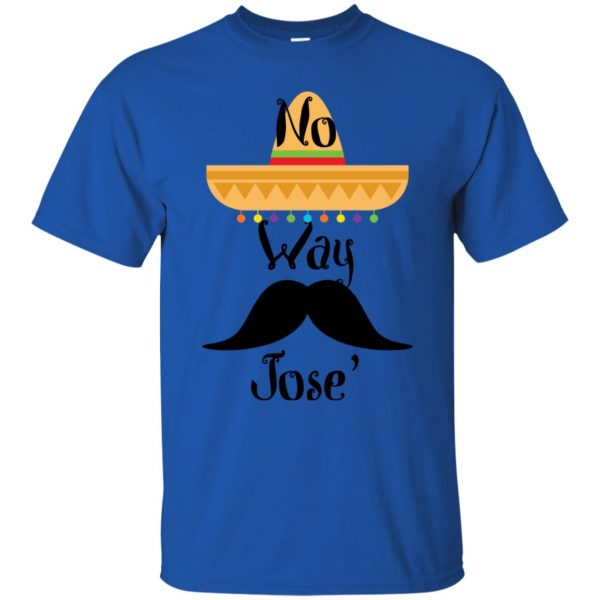 no way jose t shirt - royal blue