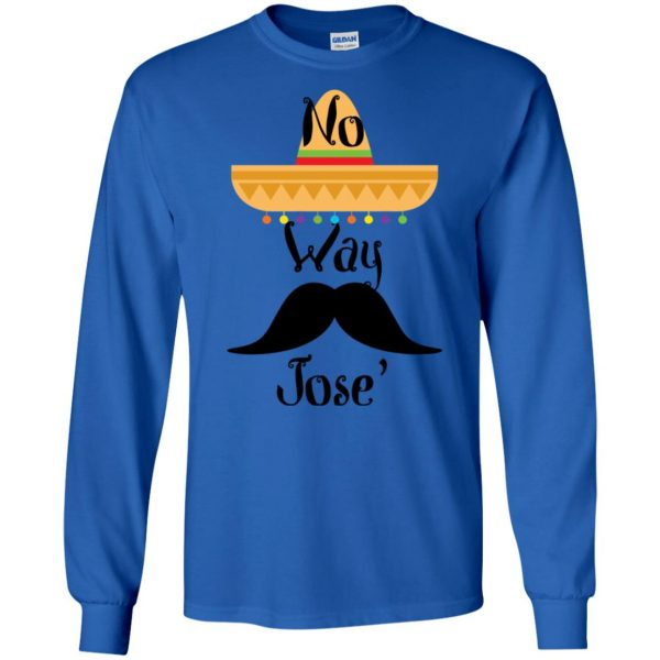 no way jose long sleeve - royal blue