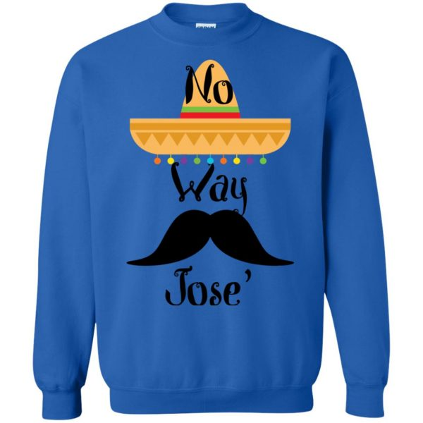 no way jose sweatshirt - royal blue