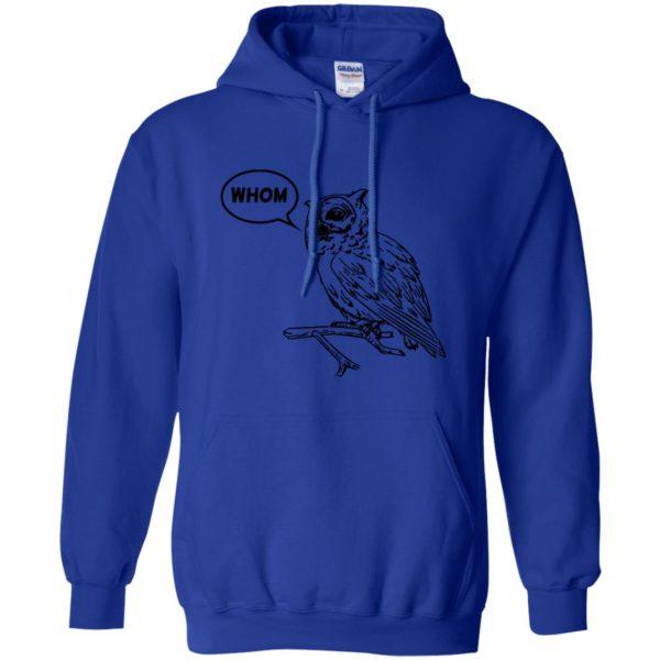 whom owl hoodie - royal blue