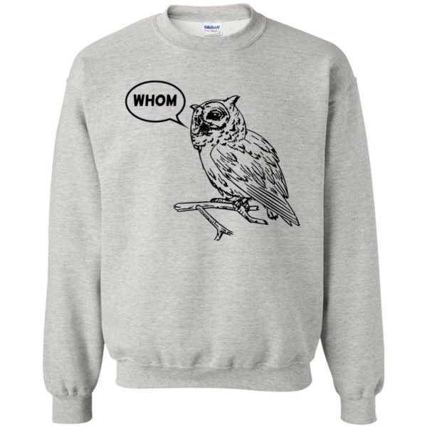whom owl sweatshirt - ash