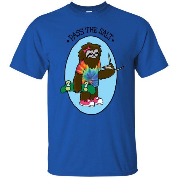 stoner sloth t shirt - royal blue