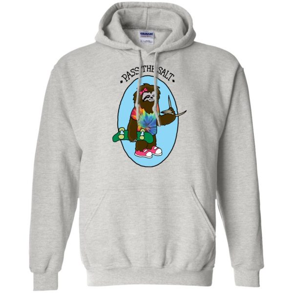 stoner sloth hoodie - ash