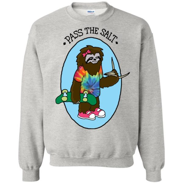 stoner sloth sweatshirt - ash