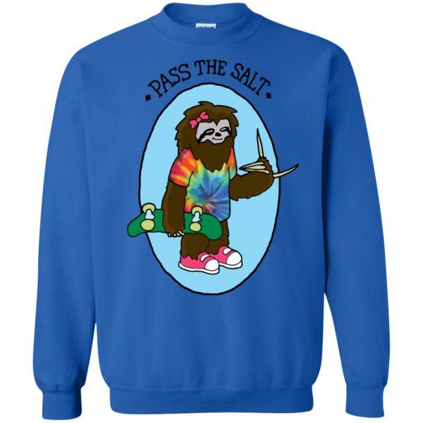 stoner sloth sweatshirt - royal blue