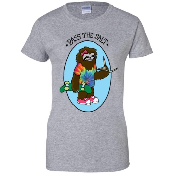 stoner sloth womens t shirt - lady t shirt - sport grey
