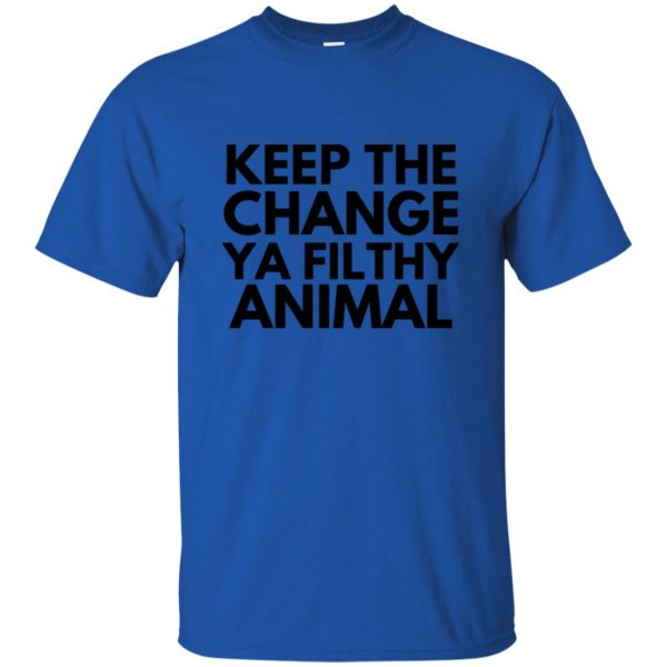 filthy animal t shirt - royal blue