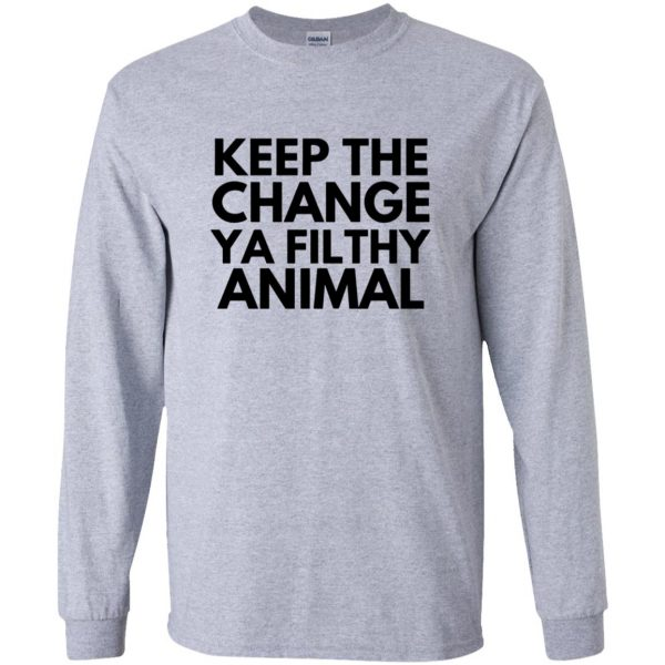 filthy animal long sleeve - sport grey